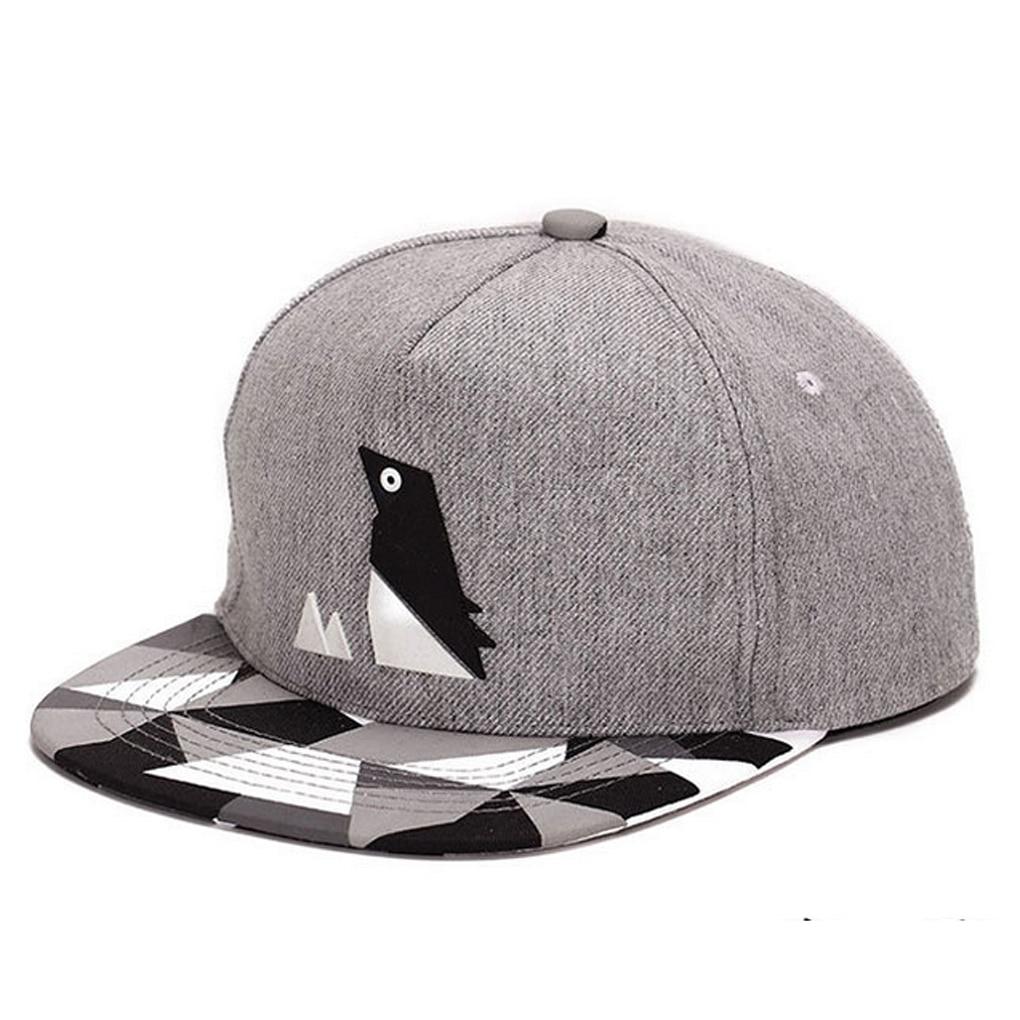 84303b3d833 Penguin Pattern Hip hop Cap Unisex Hat Adjustable Buckle Baseball ...