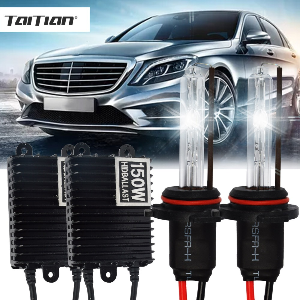 Taitian 2Pcs 150W Hid Xenon ballast+55W Xenon Light 12V 4300K h7 Car lamp super white h1 H3 light bulb 9005 9006 h11 Xenon kit makibes h3 55w 12v xenon hid kit car headlight xenon bulb