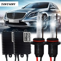 Taitian 2Pcs 150W Hid Xenon ballast+55W Xenon Light 12V 4300K h7 Car lamp super white h1 H3 light bulb 9005 9006 h11 Xenon kit