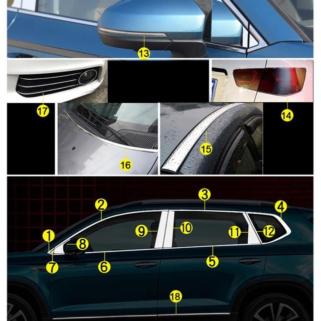 6Meters x 4/6/8/10/12/15/18/20/25/30mm Silver Chrome Molding Trim Car Door Protector Strips Window Mirror Bumper Anticollision