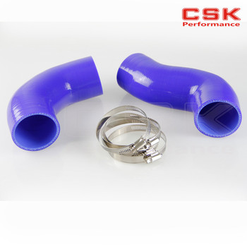 INTERCOOLER PIPE SILICONE HOSE FOR BMW 335 E90 TWIN TURBO SILICONE HOSE BLUE image