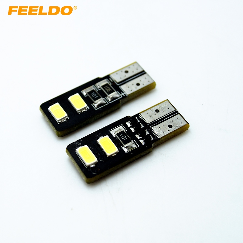 <font><b>100Pcs</b></font> White <font><b>T10</b></font> W5W 194 168 4SMD 5630 Chip <font><b>Canbus</b></font> Error Free Car 4 LED Light Bulbs #FD-4316 image