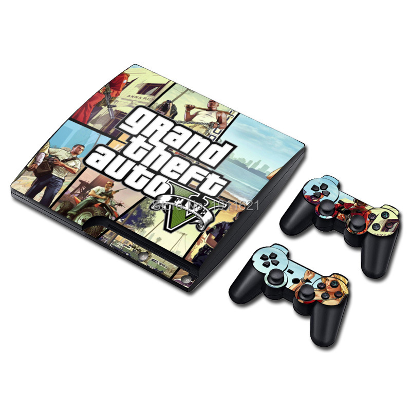 OSTSTICKER 2017 Hot Selling For PS3 Slim Skin Sticker for Sony PlayStation 3 Console and 2 Controller Skins