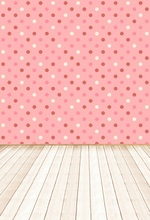 цена на Laeacco Cute Pink Dot wall Wooden Floor Children Photography Backgrounds Customized Photography Backdrops For Photo Studio