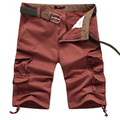 Shorts cáqui Homens Verão Shorts Da Carga Dos Homens Calças Curtas Casual Baggy Shorts Calças Militares De Carga Bermuda Macacão Grande Plus Size