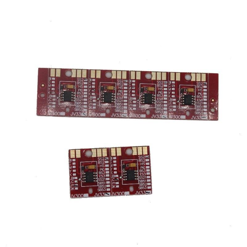 6 colors CMYKLCLM permanent Chip for Mimaki JV3 SS2 Cartridge 6pcs set cmyklclm permanent roland xc 540 eco solvent chips
