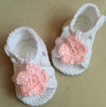 Ganchillo, Zapatos de Bebé Sandalias Zapatos Del Niño tejida