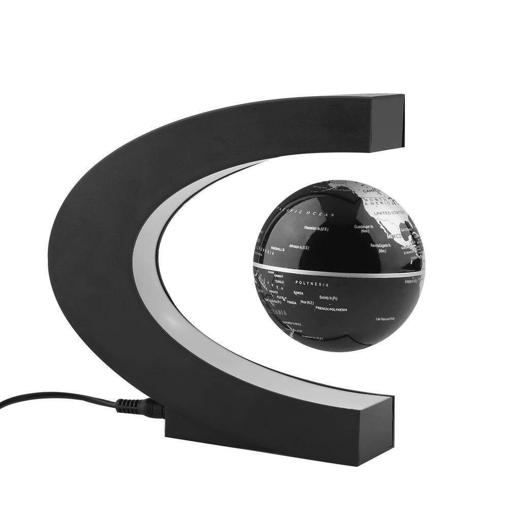 Home Decoration LED Floating Tellurion C Shape Magnetic Levitation Floating Globe World Map With LED Light Santa Decor Gift Sale