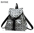 RHYME Diamond Backpack Geometric Patchwork Lattice Women Famous Brand Drawstring Bag Mochila Sac A Main