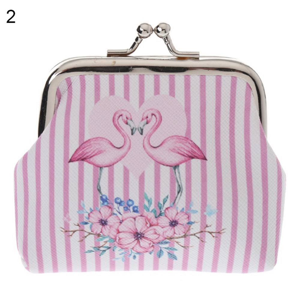 Cute Pink Mermaid Love Vintage Pouch Girl Kiss-lock Change Purse Wallets Buckle Leather Coin Purses Key Woman Printed
