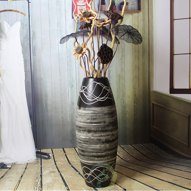 Nordic Modern Simple Large Vase Flower Arrangement Jingdezhen Retro
