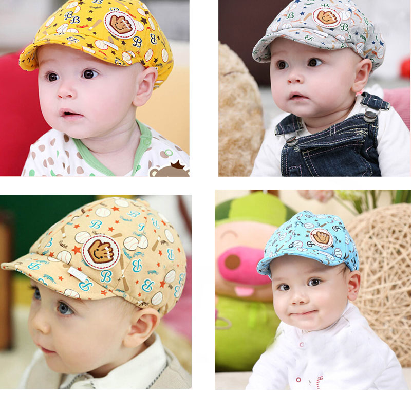 3f7a1dee13130 cute Baby Clothing Overalls for newborns Boys Girls hat hat Toddler Infant  Peaked Baseball Beret Cap for newborns