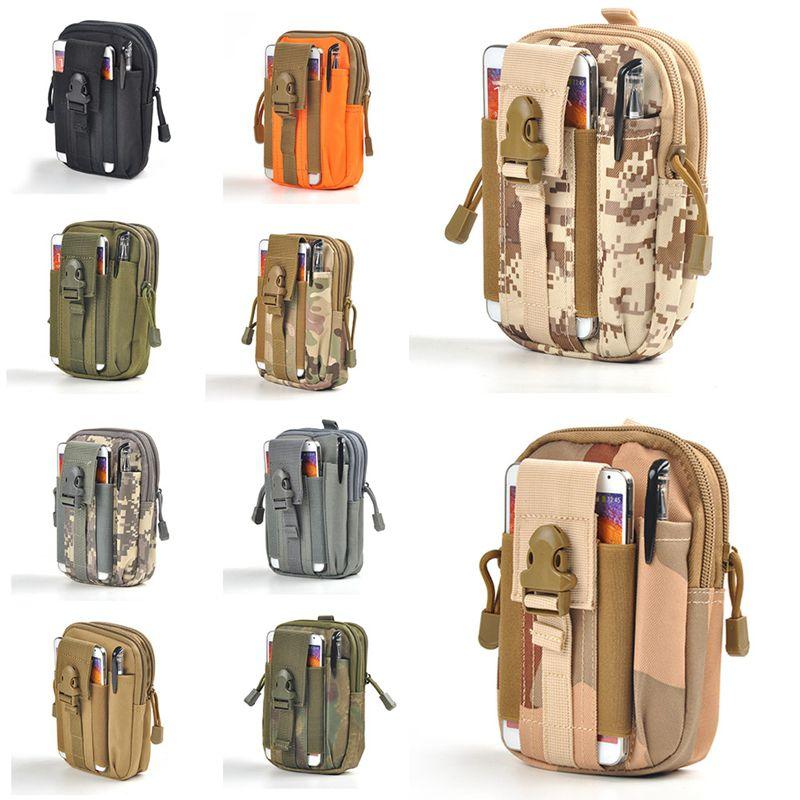 2016 Mens D30 Outdoor Waterproof Military Tactical Belt Waist Bags 1000D Nylon Mobile Phone Wallet Travel Sports Pouch Bolsa