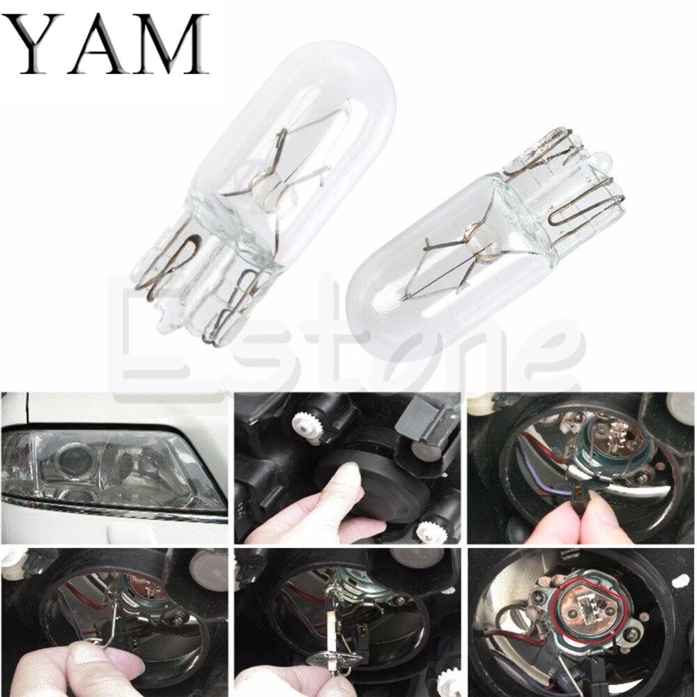 YAM 1PC T10 W5W 5W Halogen Bulb Signal Interior Car Cool White light Lamp #1 прогулочная коляска cool baby kdd 6699gb t fuchsia light grey