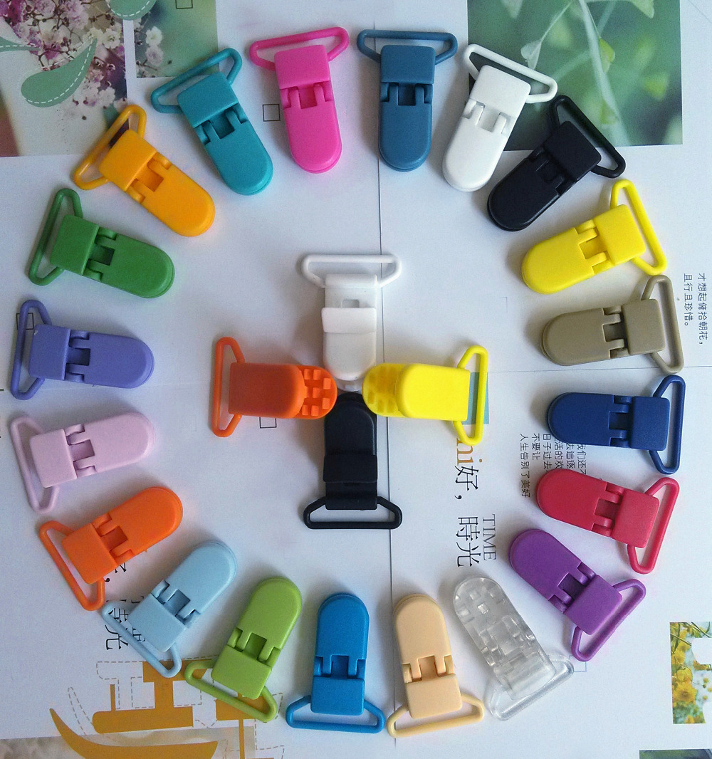 20 x Baby Plastic Dummy Pacifier Clips Suspender Soother Pacifier Holder Clip