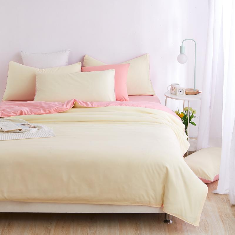 Pink Yellow Bedding Sets 3 4pcs For