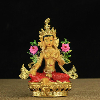 The Tibetan Buddhist Tantra gilding copper Tibetan Buddhism statue of Green Tara figure of the Buddha high about 14.8CM