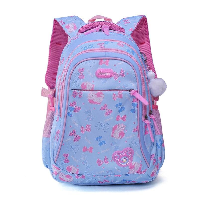 2018 детские школьные сумки для девочек рюкзаки с цветочным принтом принцессы первичные ранцы детские рюкзаки Дети mochila escolar