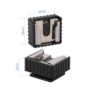 Image 4 - Kaliou 2 pièces U Type 1/4 vis unique SC 6 de chaussure chaude adaptateur de montage de chaussure chaude pour support de lumière Flash