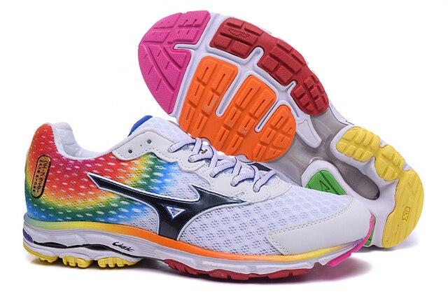 Новое поступление Mizuno Wave Rider 18 профессиональные спортивные мужские туфли стабильный спортивные Вес Подъема Обувь