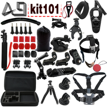 hot deal buy go pro accessories 24 in 1 gopro accessories combo kit with eva case for gopro hero5 / hero4 session / hero 5 / 4 /3+