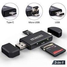 Sd 카드 판독기 usb 3.0 카드 판독기 usb c 3.0/2.0 tf/mirco sd 스마트 메모리 카드 판독기 유형 c otg 플래시 드라이브 cardreader 접합기