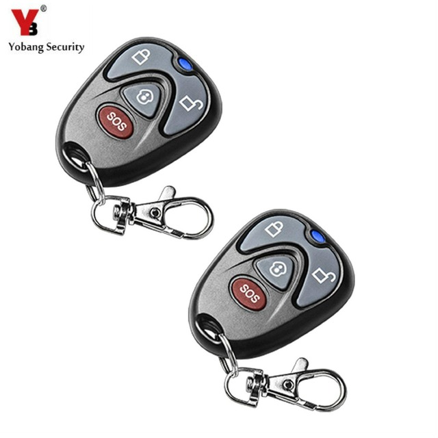 YobangSecurity 2pcs/lot 433MHz Plastic Wireless G90B Remote Control Arm/disarm Keychain with 12V27A Battery