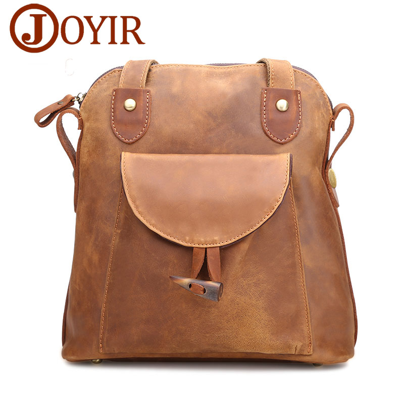 JOYIR Fashion Genuine Leather women backpack vintage brown school girl shoulder bag backpacks ladies shopping travel bags 3011 brand bag backpack female genuine leather travel bag women shoulder daypacks hgih quality casual school bags for girl backpacks