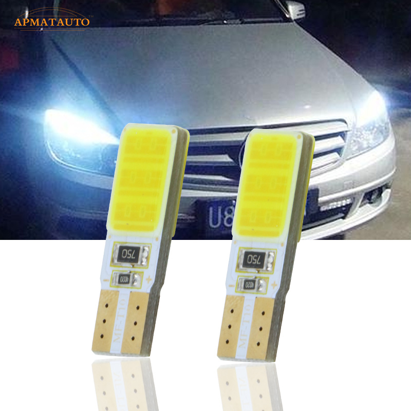 2x T10 W5W  CANBUS No Error   LED Side Parking Lights Marker Lamps Bulb For  Mercedes Benz C250 E350 C300 E550 ML550 R320 R350 canbus t10 w5w led car parking lights wedge side light for mercedes benz w203 w204 w211 w210 w202 w220 w164 w124 x204 w222 amg