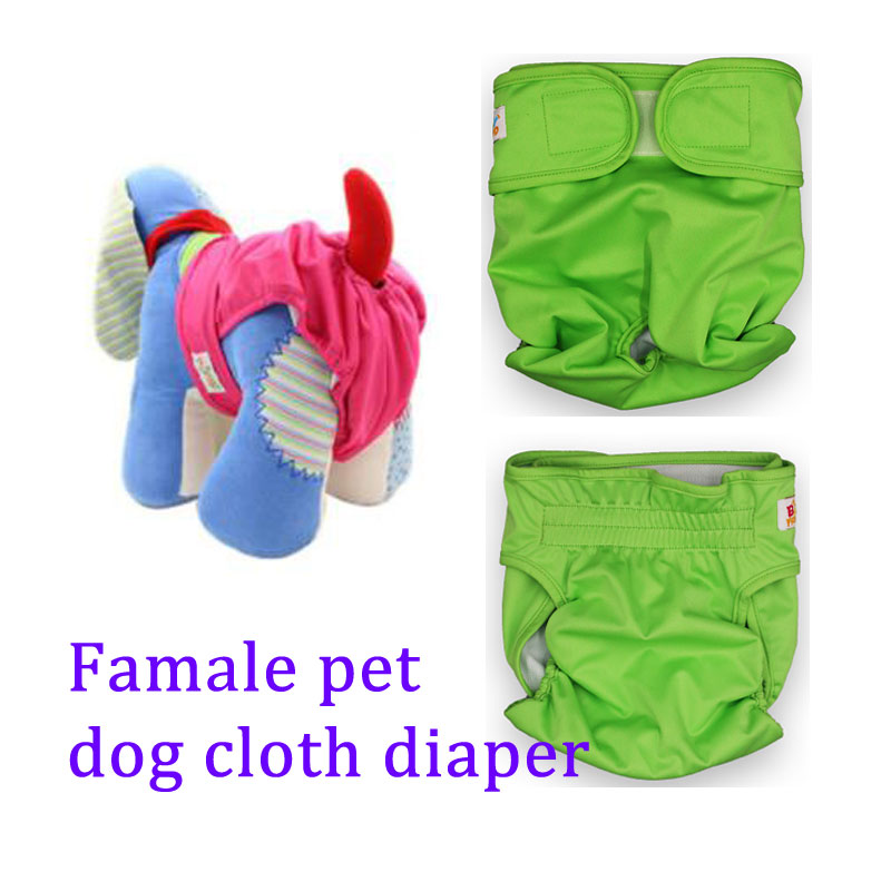 Babyfriend Female Dog Training Pant Hook&Loop Adjustable Dog Nappies Pet Liners Pet Sanitary Dog Shorts Washable Cloth Diapers