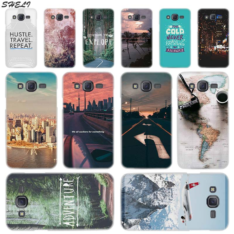 Sheli World Map Travel Plans Transparent Hard Phone Case for Samsung J1 J2 J3 J4 J5 J6 J7 J8 2015 2016 2017 2018 J7 Prim Plus