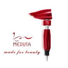 Rápido frete grátis bio medusa maser kit caneta maquiagem permanente profissional fonte de alimentação da máquina incluindo