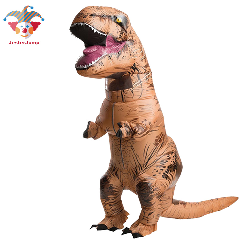 T REX Inflatable Dinosaur Costume For Adult Christmas Cosplay Halloween Dinosaur Animal Jumpsuit Costume for Women