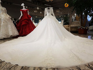 Image 5 - AIJINGYU Weddingdress Long Train Gowns Affordable Websites Summer Bridal Accessories Stores Women Polka Dot Gown Wedding Colors