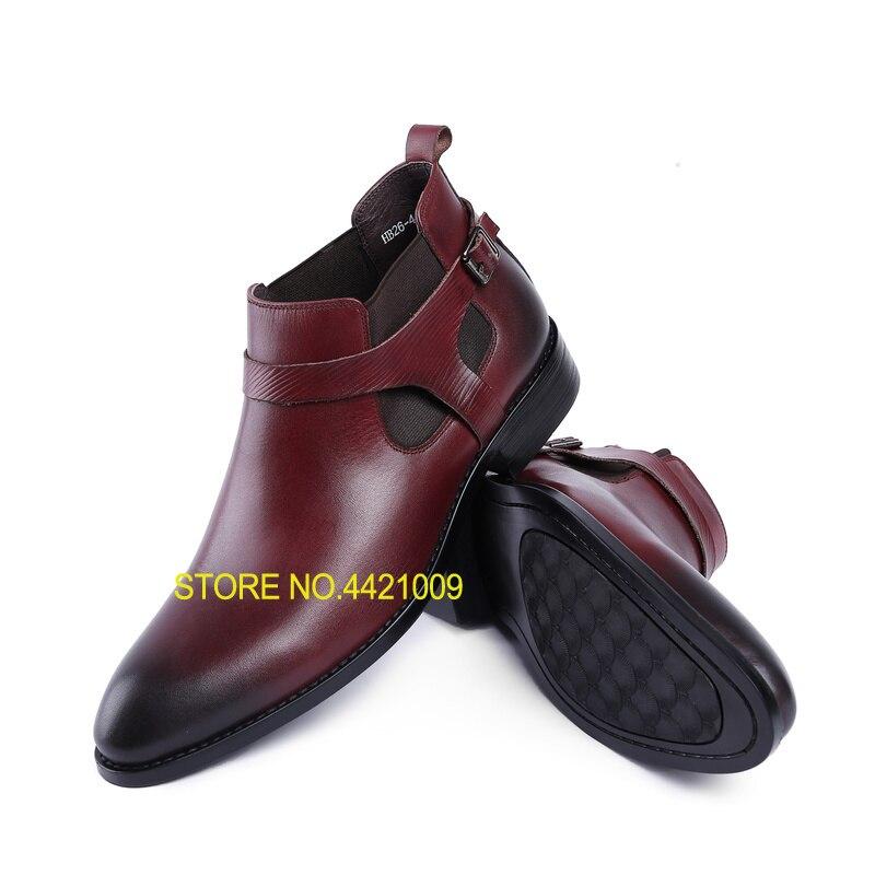 Schuhe Vorsichtig Klassische Schnallen Herren Echt Leder Italien Derby Oxfords Schuhe 2018 Hochzeit Kleid Partei Schuhe Motorrad Stiefeletten Sapatos Weich Und Rutschhemmend Herrenstiefel
