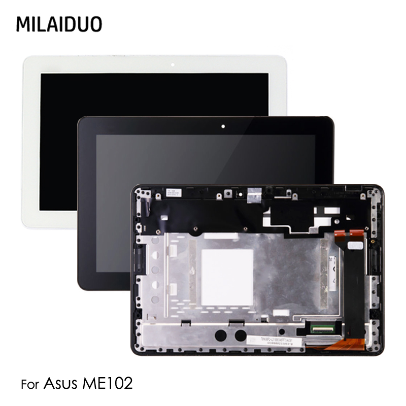 LCD Display For Asus MeMO Pad 10 ME102 ME102A K00F FPC-V2.0 V3.0 4.0 1.0 Touch Screen Digitizer with Frame Assembly Replacement