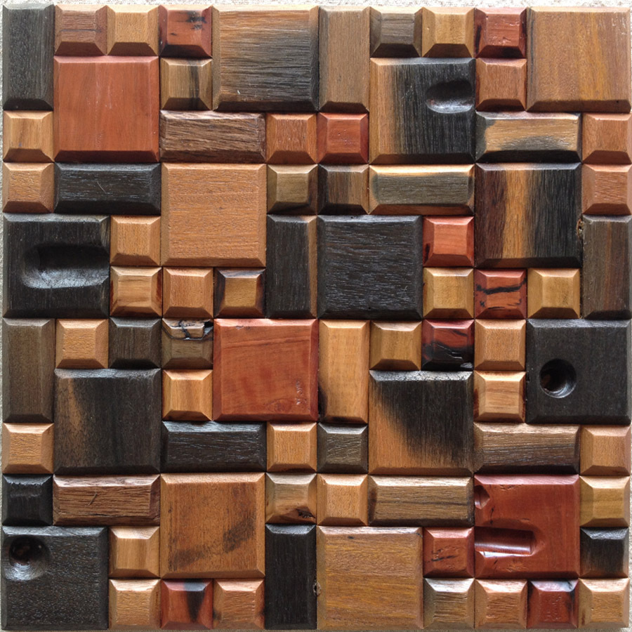 12x12 mesh home walls solid wood mosaics 3d tiles wall - Ladrillos decorativos para pared ...