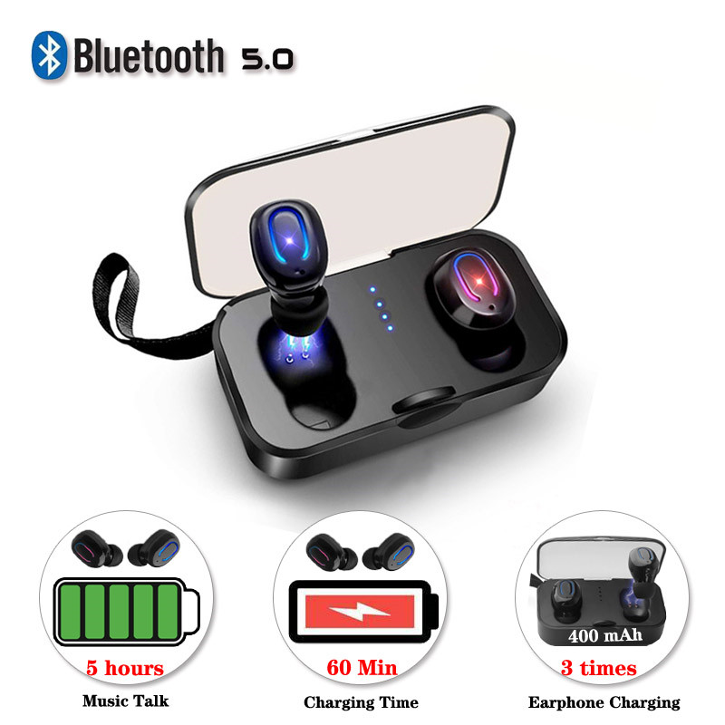 Wireless Headset Stereo Handfree Sports Bluetooth 5.0 Earphone With Charging Box For iphone Android Earbuds PK i9s tws Earbuds