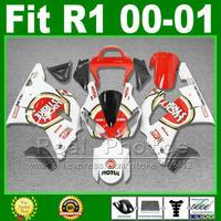 LUCKY STRIKE fairings dla YAMAHA yzf R1 2000 2001 tanie zestawy fairing zestaw nadwozie YZFR1 00 01 1000 YZF-R1 części z tworzywa sztucznego