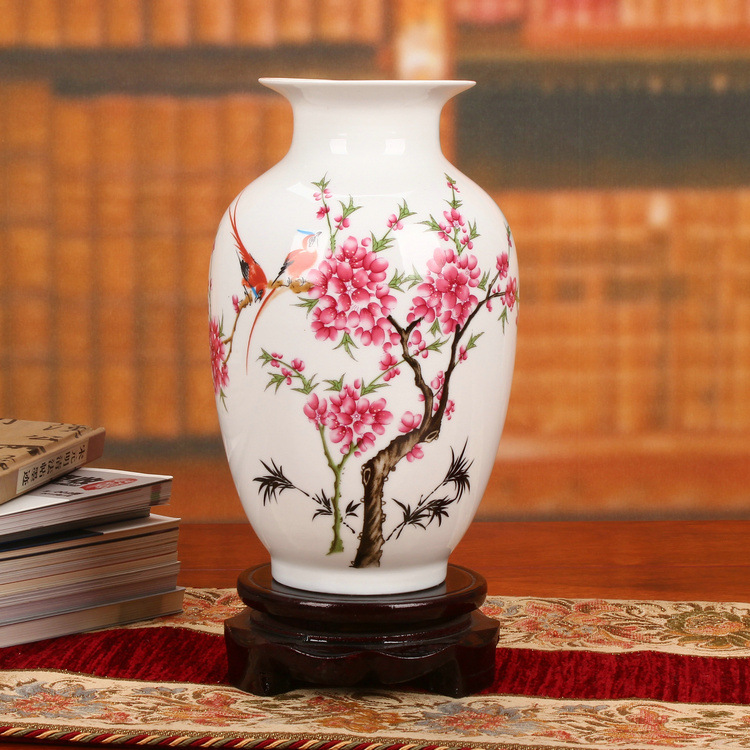 Jingdezhen ceramics factory direct pastel pcdw magpie Higashiuri bottle Chinese Home Furnishing ornaments wholesale