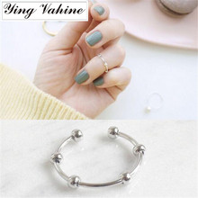 925 Sterling Silver Jewelry Mini Beads Knuckle Ring Tail Rin