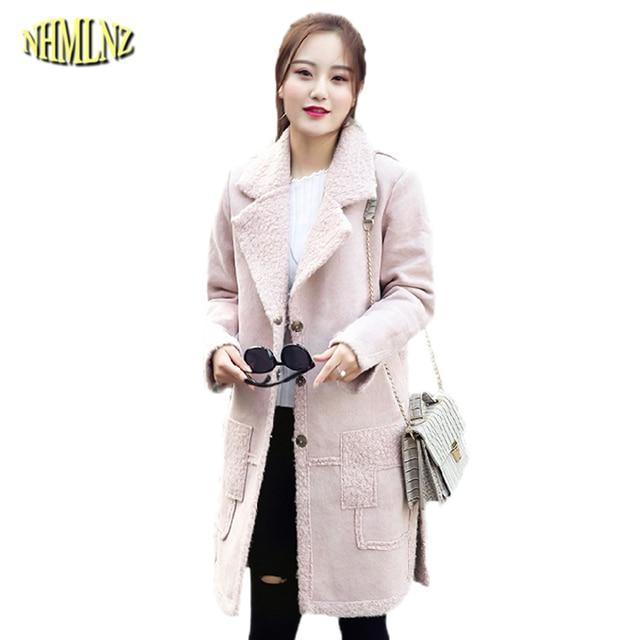 44e650fe15d0 Autumn Winter Women Woolen jacket Casual Pocket stitching Trendy fashion  Wool coat Korean style Suede fur one Woolen coat WKM547