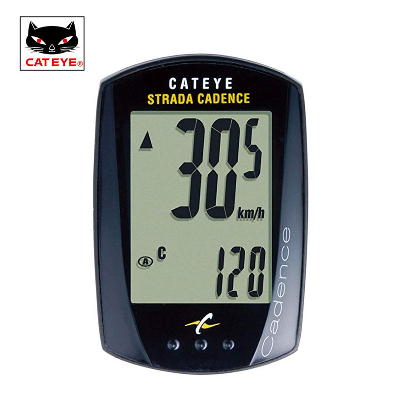 CATEYE Wired Bike Computer Bicycle Cadence Speed Sensor Cycling Computer Waterproof Odometer Speedometer for Bicycle Accessory cateye bicycle computer wired bike speedometer with cadence sensor mtb rode bike stopwatch computer speedometer for bicycle