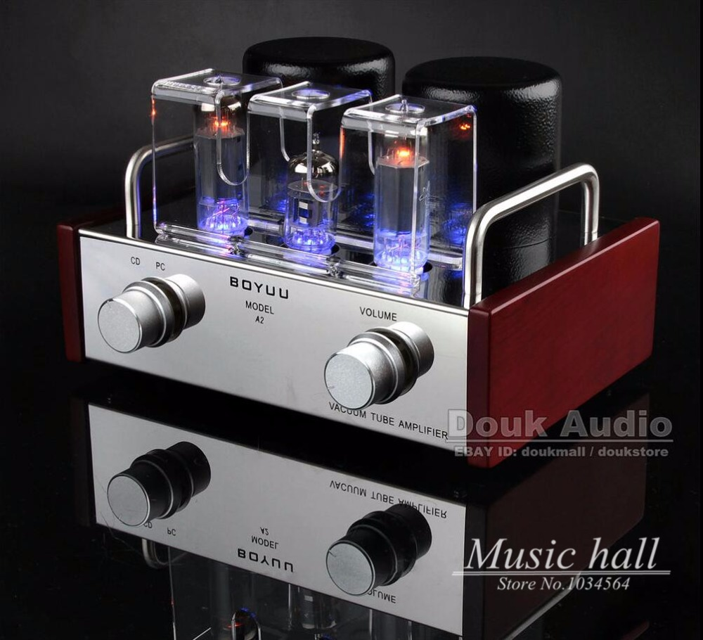 Music hall Mini Single-ended 6P14&EL84 Vacuum Tube Amplifier HiFi Integrated Amp Finished Product 110~220V