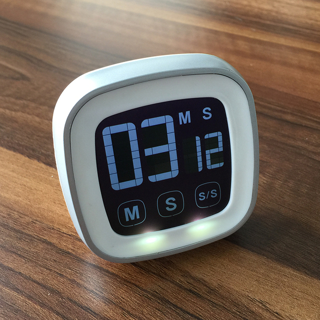 Touch Screen Digitale Timer Useful Kitchen Buzzer Alarm Stopwatch Digital Lcd Display For Night Use