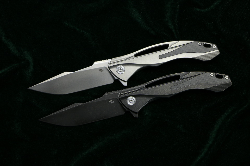 CH CH3519 Flipper folding knife s35vn blade carbon fiber Titanium handle outdoor camping hunting pocket fruit Knives EDC tool (2)