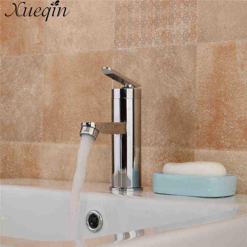 Xueqin Одноручный смеситель для ванной комнаты с горячей и холодной водой смеситель с краном Кухня на бортике Матовый хромированный кран для раковины
