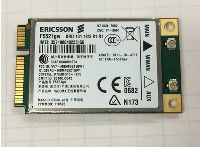 SSEA Wholesale New F5521GW 21M WCDMA 3G Ericsson Wireless 3G <font><b>Mini</b></font> <font><b>PCIE</b></font> Card for Dell 3G Card <font><b>GPS</b></font> image