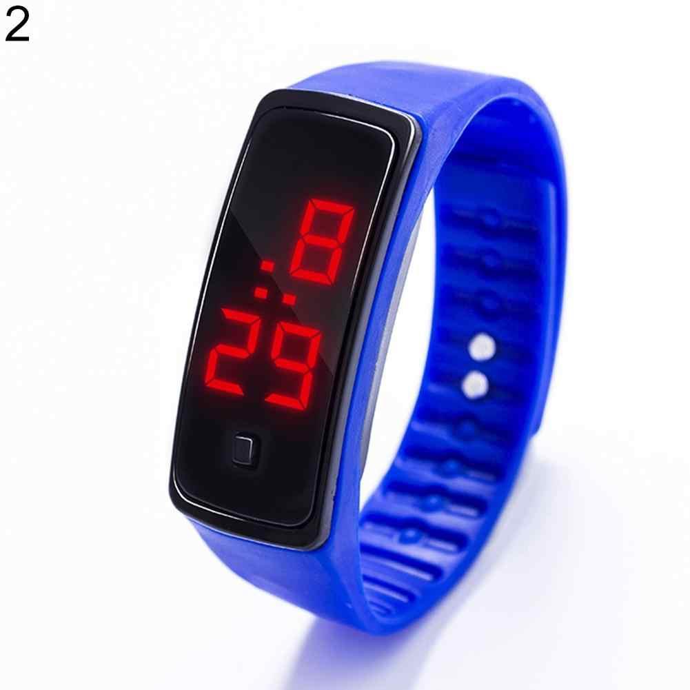 ילדי שעון ילד ילדה ילדי אופנה ספורט עמיד למים סיליקון בנד LED הדיגיטלי שעון יד לילדים שעונים לילדים שעון