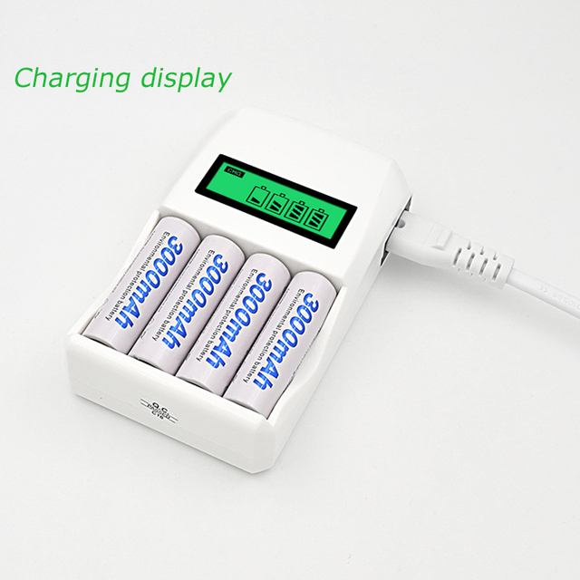 Smart Intelligent Battery Charger For AA / AAA NiCd NiMh Rechargeable Batteries